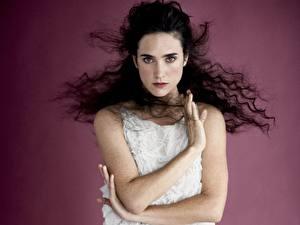 Картинки Дженнифер Коннелли волосы по ветру