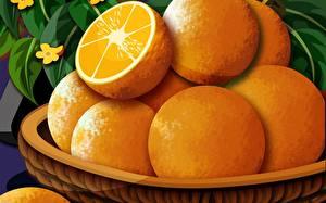 Картинки Фрукты Цитрусовые Апельсин Апельсины