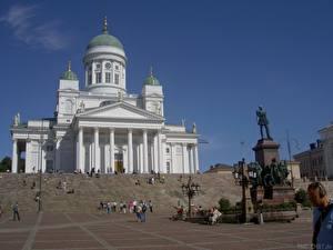 Картинки Храмы Финляндия Хельсинки
