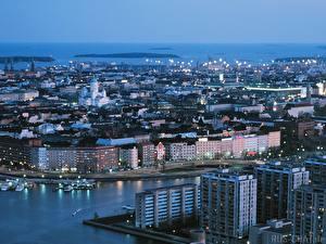 Картинка Дома Финляндия Хельсинки Города