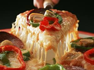 Картинка Пицца Продукты питания Еда