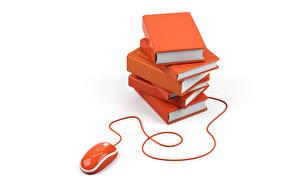 Обои Компьютерная мышь Книга 3D Графика