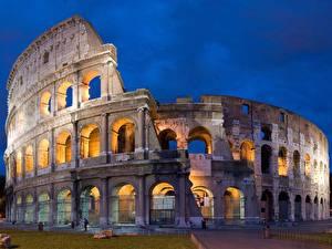 Фото Италия Известные строения Колизей Арка Города