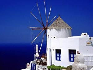 Картинки Здания Греция Фира город