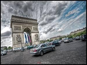 Фотография Известные строения Франция Арка Города