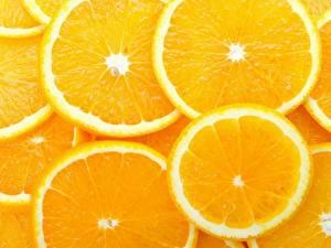 Фото Фрукты Цитрусовые Апельсин Нарезка Еда
