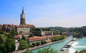 Картинки Здания Швейцария Берн