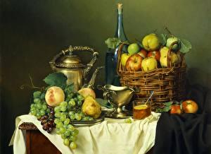 Картинка Накрытия стола Фрукты Натюрморт Пища