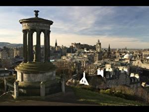 Обои Шотландия Колонны Эдинбург Монумент Роберта Бёрнса Города