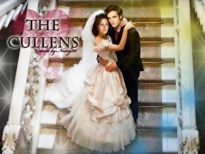 Обои Сумерки. Сага Сумерки Robert Pattinson Kristen Stewart Белла Эдвард. Свадьба. Фильмы