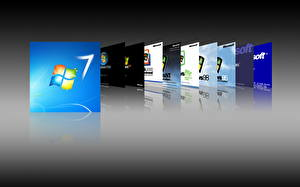 Обои Windows 7 Windows эволюция