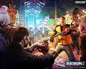 Картинки Dead Rising Зомби с бензопилами