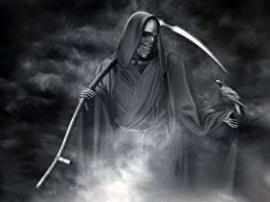 Картинки Готика Фэнтези Образ смерти Коса (оружие)