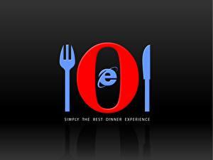 Обои для рабочего стола Opera опера ест интернет эксплорер Компьютеры