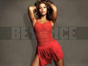 Картинки Beyonce Knowles в красном платье Знаменитости