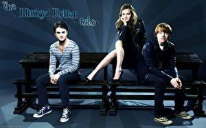 Картинки Гарри Поттер Daniel Radcliffe Emma Watson Rupert Grint Фильмы