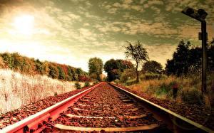 Картинки Железные дороги Рельсы