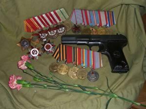 Фотография Пистолетом Российские Медали военные