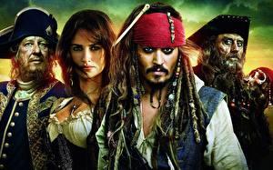 Фотография Пираты Карибского моря Джонни Депп Джеффри Раш Penelope Cruz Фильмы