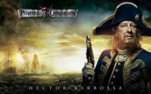 Обои Пираты Карибского моря Джеффри Раш Фильмы