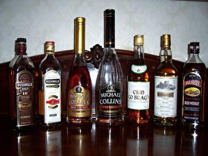 Картинка Напитки Виски Бутылка Продукты питания