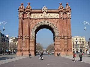 Картинка Испания Арка Arc de Triomf Barcelona Города