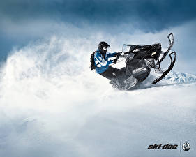 Фотографии Снегоходы Снег