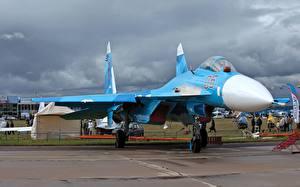 Картинки Самолеты Истребители Су-27