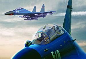 Фотографии Самолеты Истребители Су-27