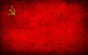 Фотография Флаг СССР Серп и молот Красный