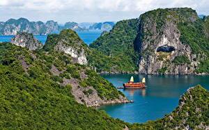 Обои Вьетнам Море Природа фото