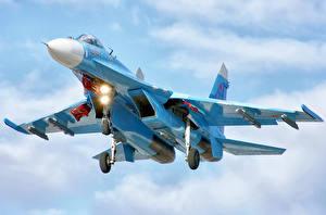 Картинка Самолеты Истребители Су-27
