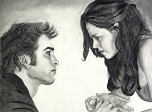 Картинка Сумерки. Сага Рассвет Сумерки. Сага Robert Pattinson Kristen Stewart Фильмы
