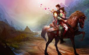 Обои Любовь Любовники Фэнтези