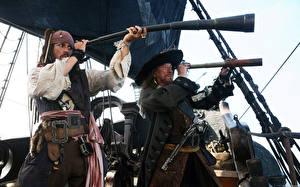 Фотографии Пираты Карибского моря Джонни Депп Кино Фильмы