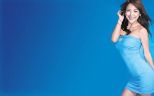 Обои для рабочего стола Hyori Lee Платье молодая женщина