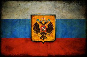 Картинка Россия Герб Флаг Двуглавый орёл