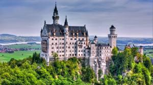 Обои Замки Нойшванштайн Германия