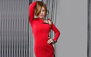 Обои для рабочего стола Hwang Mi Hee Платье молодая женщина