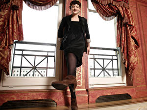 Фото Carey Mulligan Колготки Платье Туфли