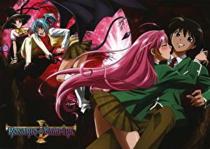 Обои Rosario to Vampire Аниме