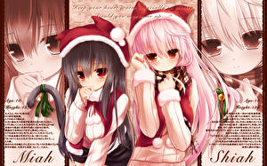 Фотографии Neko Girls Рождество Девушки