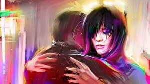 Картинки Любовь Влюбленные пары Фантастика