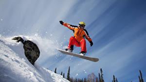 Картинки Лыжный спорт Сноуборд