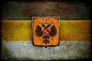 Картинка Россия Герб Националисты Двуглавый орёл Флаг