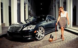Обои Платья молодые женщины Автомобили