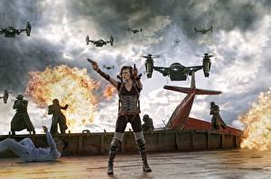 Картинки Обитель зла Milla Jovovich Обитель зла 5: Возмездие Фильмы