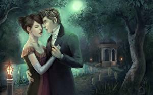 Обои Любовь Влюбленные пары Фэнтези