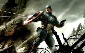 Фотографии Герои комиксов Капитан Америка герой Фэнтези