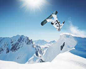 Картинка Лыжный спорт Сноуборд Snoubord